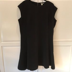 Ribbed Little Black Dress. Halogen. Size 18w