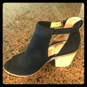 Sole Society Navy Blue Suede Booties