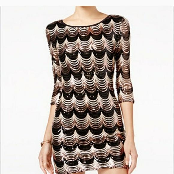 3fb86b74 Macy's Dresses   Macys Beautiful Black And Gold Sequin Dress   Poshmark