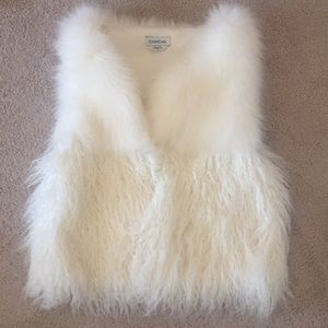 Off white fur vest from Bebe
