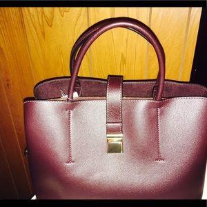 Purple stylish handbag