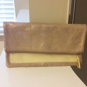 Gap leather foldable clutch bag