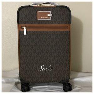 NWT MK Jet Set Travel Trolley Luggage- Brown