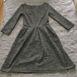 Stripped Black and Gray Merona Dress with Pockets