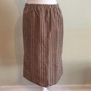 Maternity Corduroy Winter Striped Pencil Skirt