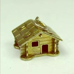 Jewelry - 800 Silver Log Cabin Charm Pendant