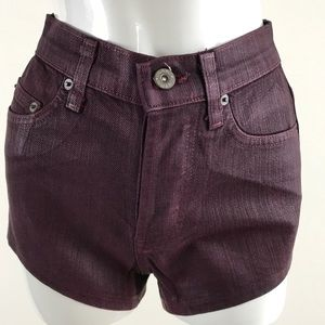 NWT Women's Carmar LF Burgundy Denim Jean Shorts
