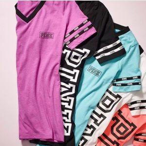 Pink VS v-neck tops