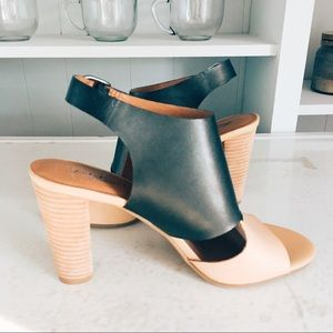 Lucky Brand boho stacked heels