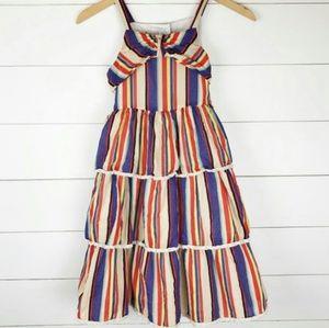 Striped multicolor dress