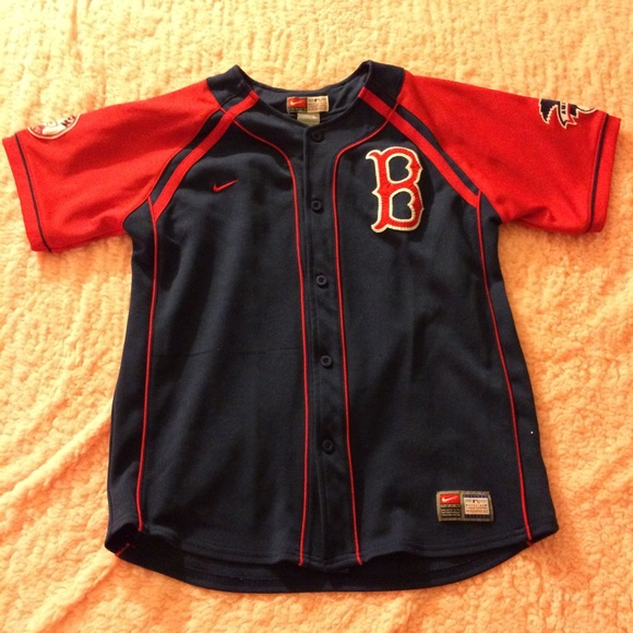 reputable site c9e7e 90d39 sale ! Nike Team MLB-Youth L-Red Sox Jersey