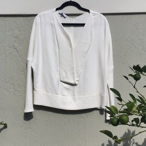 White V neck Narcisco Rodriguez blouse