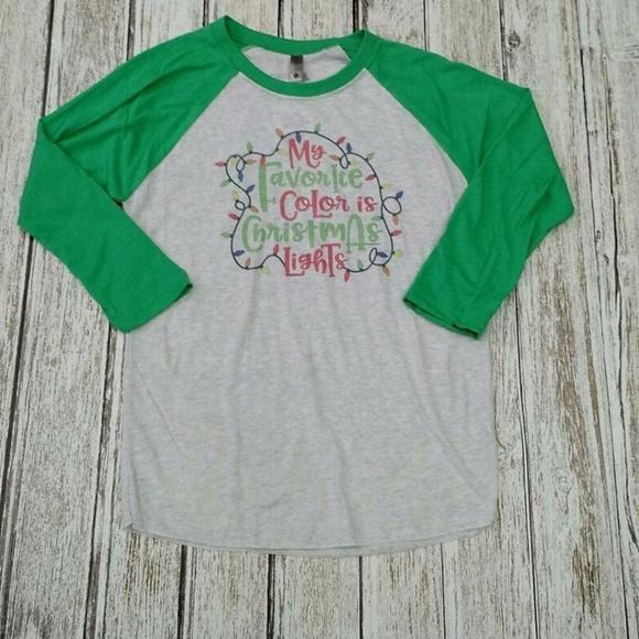 Emi Sues Tops My Favorite Color Is Christmas Lights Tshirt Poshmark