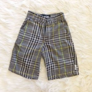 Billabong Boys Plaid Shorts