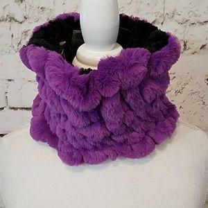 Adrienne Landau Trolls faux fur scarf collar