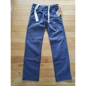 True Religion Mens relaxed destructed chino pant