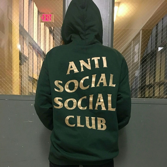 c09baf7866da Anti Social Social Club Tops - Anti social social club green and gold hoodie  assc