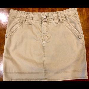 KENAR Tan mini skirt Small