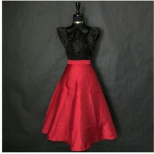 F-RED FLARE VINTAGE SKIRT Sz (S)