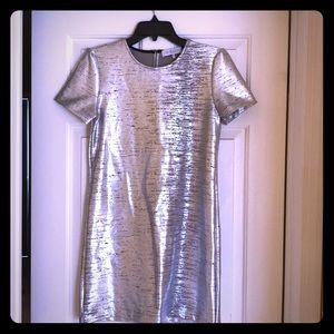 WAYF Silver Shift Dress