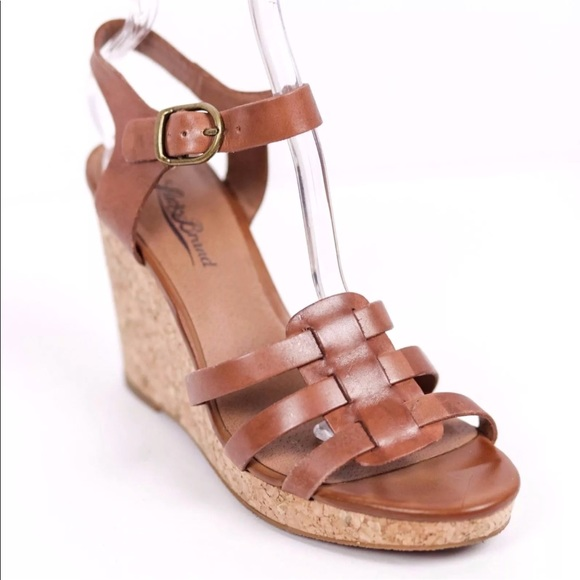 d5a33f2435c1 Lucky Brand Shoes - Lucky Brand Willow Brown Cork Wedge Sandals