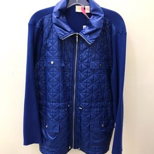 Chicos Cobalt Blue Sweater Jacket