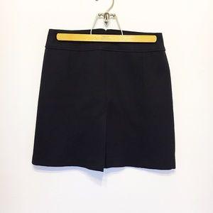 Loft   Black Front Pleat Skirt
