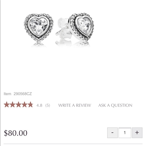 4cac2b1cc9f96 💯 Authentic Pandora Sparkling Love Stud Earrings