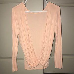 Soft peach, long sleeve top