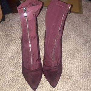 Shoes - Wine booties