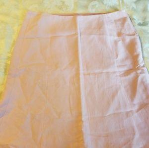 Loft pink linen skirt.
