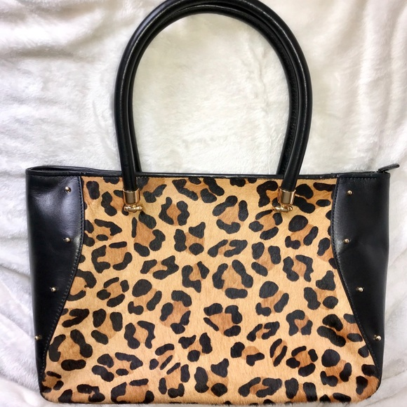 Lauren Ralph Lauren Handbags - Ralph Lauren leopard studded calf hair tote. 8584ba1190