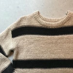 Cozy striped sweater NWOT