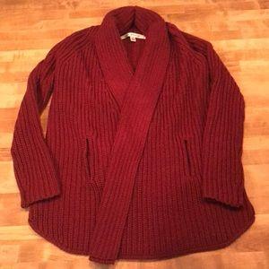 Cozy Red Cardigan Sweater