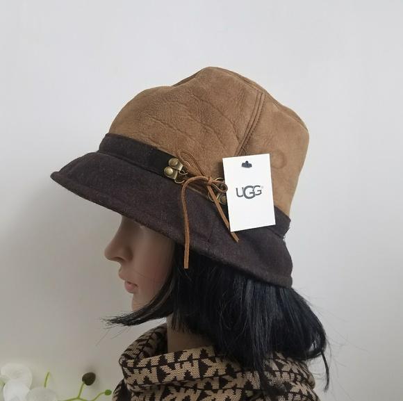 2614b20fd UGG SHEEPSKIN BUCKET HAT NWT
