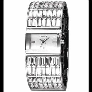 DKNY, Watch Crystal Stainless Steel Watch, Vintage