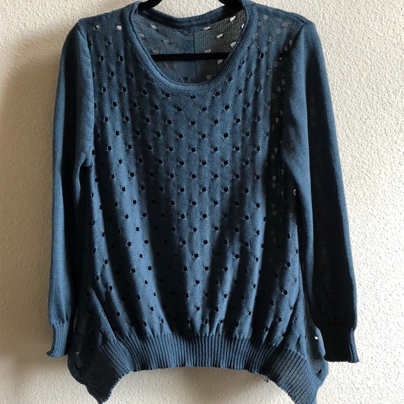 f654d3d8a Anthropologie Sweaters - Anthropologie Oversized Perforated Button Sweater
