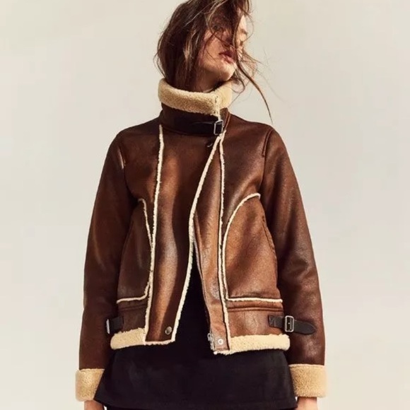 bd882e47 Zara Jackets & Coats | Contrast Fleece Jacket Xs Nwt Aviator Bomber ...