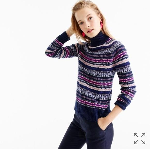 85% off J. Crew Sweaters - J. Crew fair isle wool colorful ...