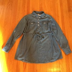 Denim Maternity Shirt