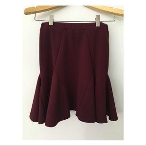 ASOS Burgundy/Maroon Skater Skirt