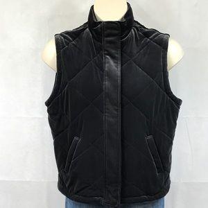 Jones New York gray velvety vest