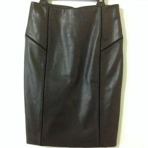 Antonio Melani leather pencil skirt