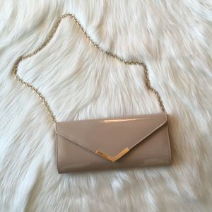 Aldo Gold and Neutral Clutch w Chain
