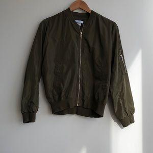 Jackets & Blazers - blanc de blanc bomber jacket. Olive. Size S. NWOT!