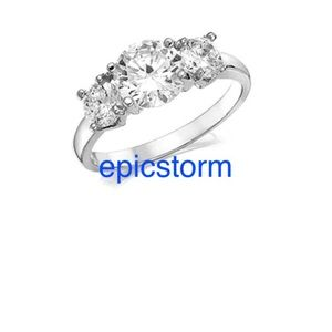 NWT Meghan Markle Three Stone Engagement Ring