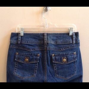 CaBi Dark Wash Flap Pocket Jeans Sz 10