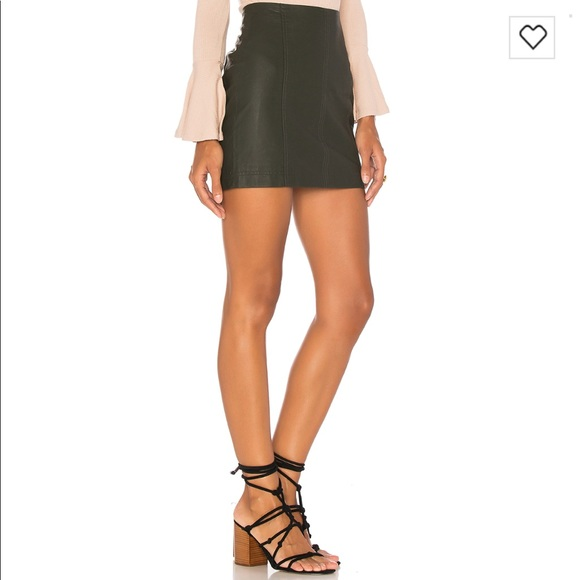 e9bba9774e Free People Dresses & Skirts - Free People Modern Femme Faux Leather Mini  Skirt 0