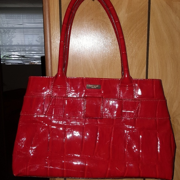 Kate Spade Bags Red Patent Leather Bag With Bow Poshmark