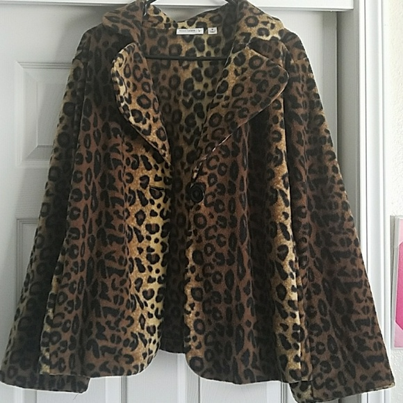 Susan Graver Jackets & Blazers - Wild Ride Leopard Cloak
